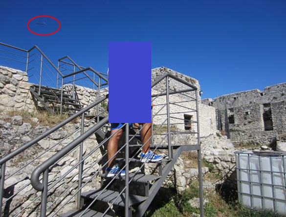 UFO photograph taken on August 17, 2013 in Monte Sant'Angelo, Southern Italy. (Credit: CUFOM)