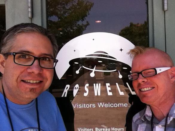 Jason and Alejandro at Roswell