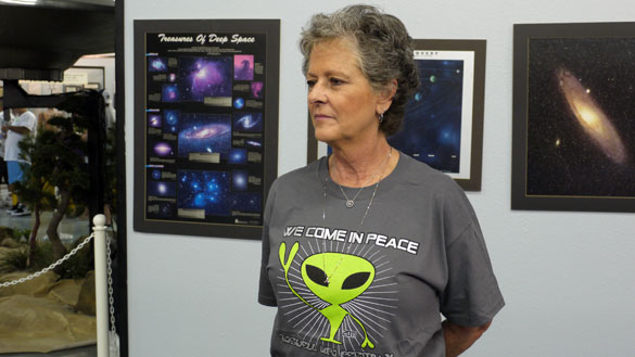 Julie Shuster at the International UFO Museum and Research Center in Roswell, New Mexico. (Credit: Alejandro Rojas)