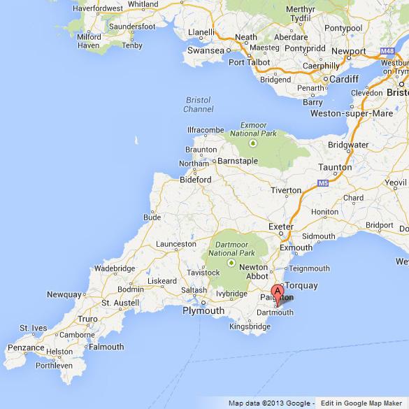 Google Map of Kingswear