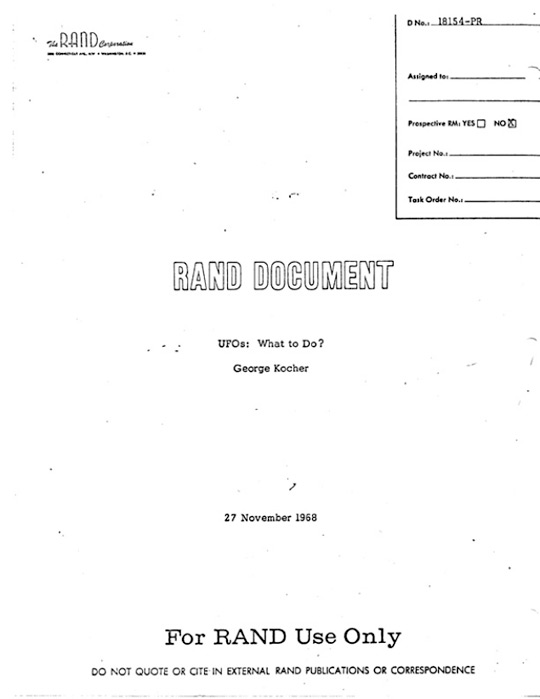 RAND UFO Document cover