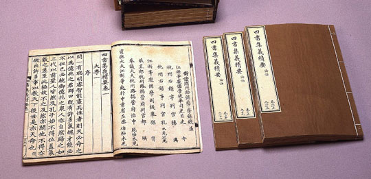 A 1330 edition of the book by Liu Yin, Essential to the Collected Meaning of The Four Books. (Image Credit: National Palace Museum, Taiwan)