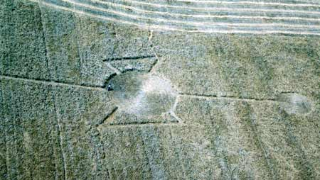 Logan,Utah Crop Circle from August 1996 (image credit: Mitch Mascaro/Herald Journal)