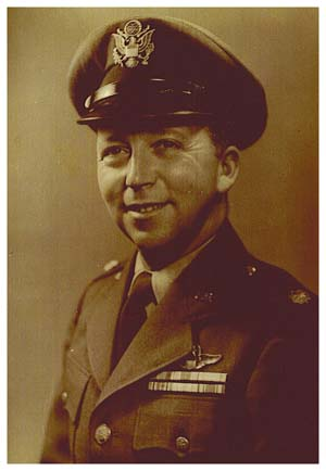 Major Wendelle Stevens at WADC in Dayton, Ohio.