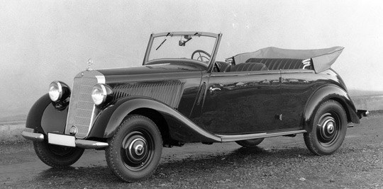 1947 Mercedes Benz driven by Paperclip scientists.