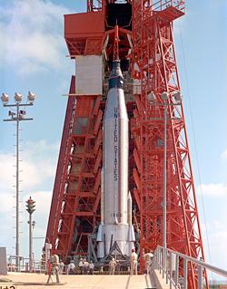 Prelaunch of Cooper's Mercury-Atlas 9 (Faith 7) mission. (image credit: NASA)