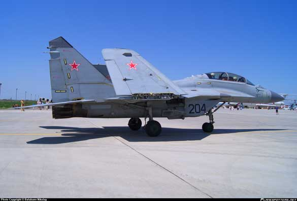 MiG-29 stationed at the Yeisk air base. (Credit: Planespotters.net)
