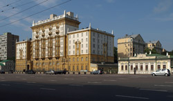 US Embassy in Moscow.