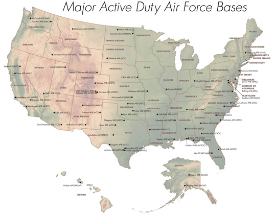 Air Force bases in US