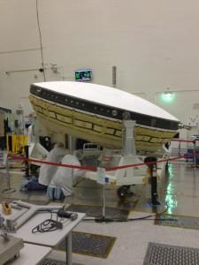 The LDSD test craft. (Credit: NASA/JPL)