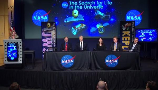 NASA's July 14 panel discussion. (Credit: NASA)