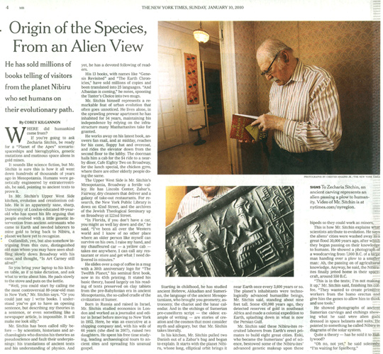 Recent New York Times article on Sitchin. Click on the image to enlarge.