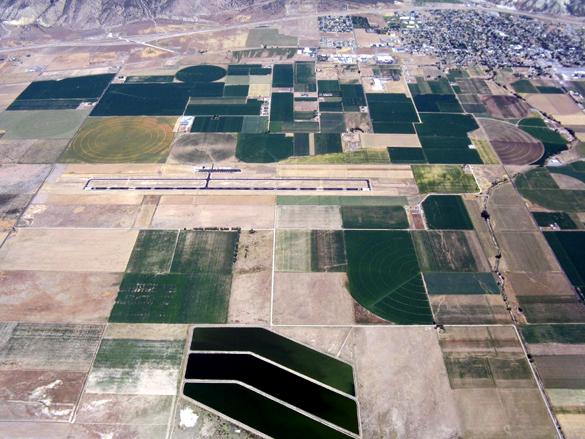 Nephi Municipal Airport from the air. (Credit: Arizona Soaring Association/http://www.asa-soaring.org/)