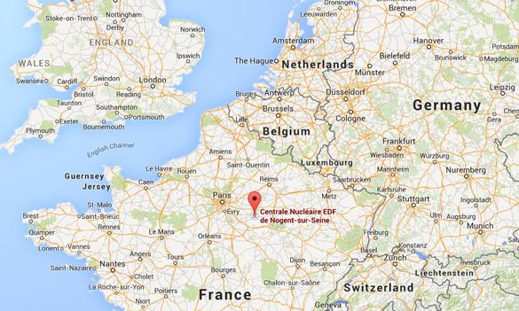 Location of Nogent-sur-Seine in France. (Credit: Google Maps)