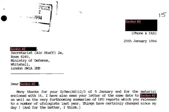 Ralph Noyes letter