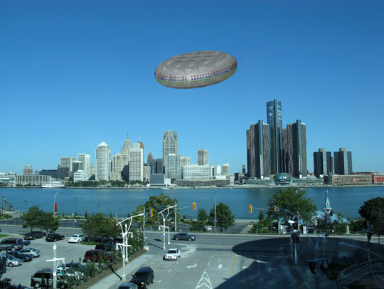 Illistration of the object seen in Detroit (Credit: Michael Schratt).