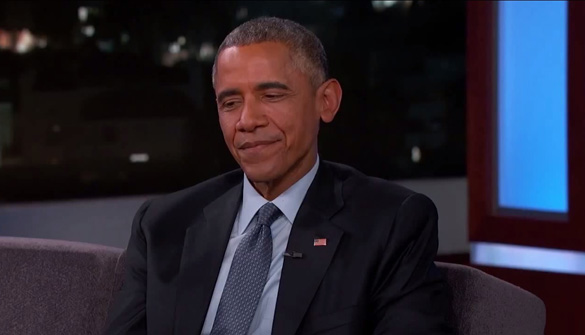 Obama's apparent demeanor change, according to hansen's analysis. (Credit: Jimmy Kimmel Live!/YouTube)
