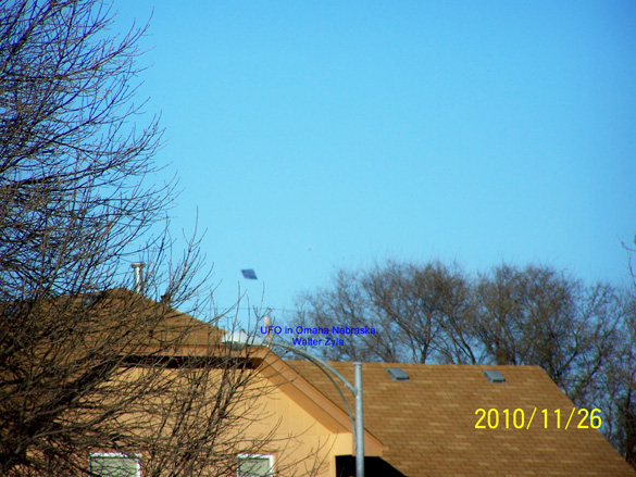 The first image of the triangular object captured by the witness. (Credit: MUFON/Walter Zyla)