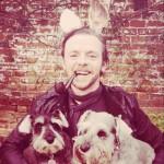 Simon Pegg's Twitter pic.