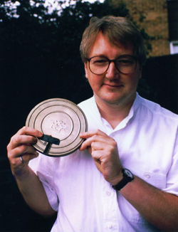 Philip Mantle with film can (image credit: Ray Santilli)