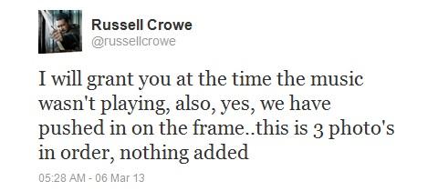 Russell Crowe UFO Tweet