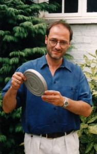 Ray Santilli with the Autopsy film canister (image credit: Philip Mantle)