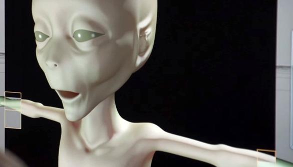 The final computer rendering of the alien. (Credit: Slidebox Media)