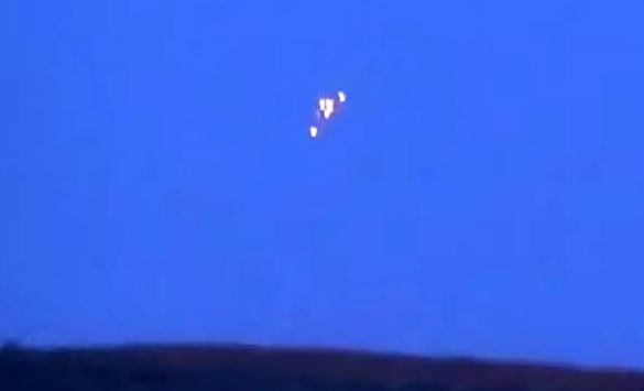 Close-up of UFOs with contrast adjusted. (Credit: YouTube)