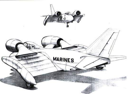 Super STOL drawings by Mark McCandlish.