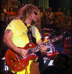 Sammy Hagar playing his Alien guitar. (Credit: Bend Photography)