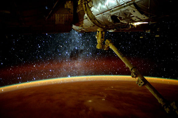 Recent image tweeted by Scott Kelly from the ISS. (Credit: Scott Kelly/NASA/Twitter)