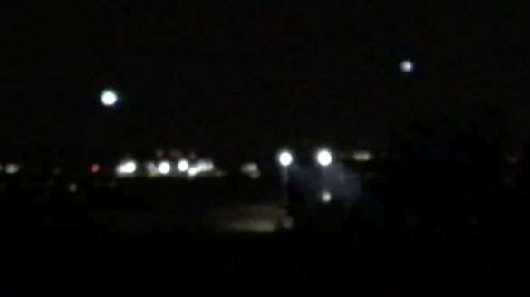 Screen shot from UFO video submitted to MUFON. (Credit: MUFON)
