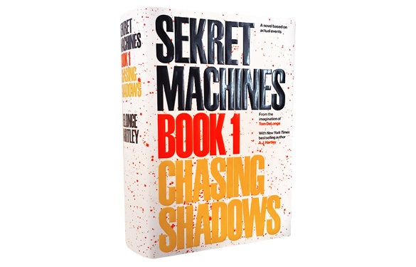 Book cover to Sekret Machines: Chasing Shadows. (Credit: To The Stars, inc.)