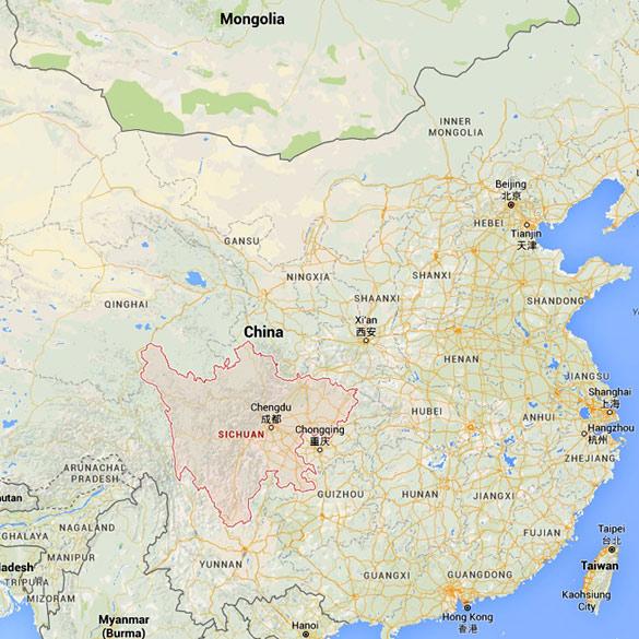 Map of China (Credit: Google Maps)