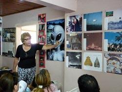 Silvia Perez Simondini at the UFO Museum (Museo OVNI) in Victoria, Argentina. (image credit: Visión OVNI)