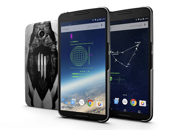 The limited-edition Skrillex Android phone cases. (Credit: Google)