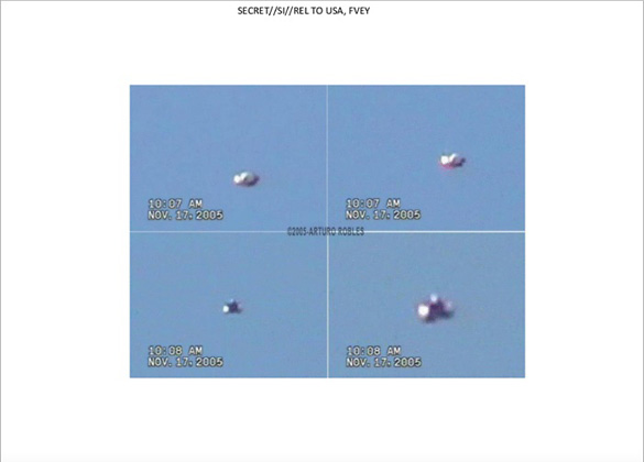 UFO slide 36. Still images of UFO video form Mexico.