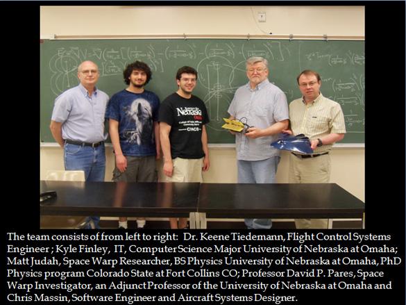 Space Warp Dynamics Team. (Credit: Space War Dynamics, LLC)