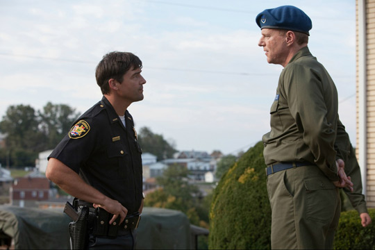 dad confront the Air Force. (image credit: Amblin Entertainment, Bad Robot Productions, and Paramount Pictures)