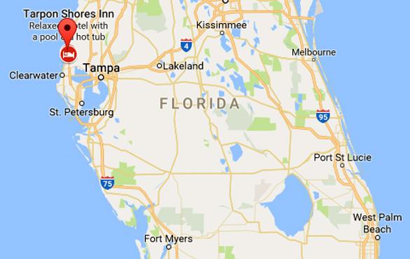 Tampa Bay Map Florida witness reports rectangular UFO near Tampa Bay | Openminds.tv Tampa Bay Map