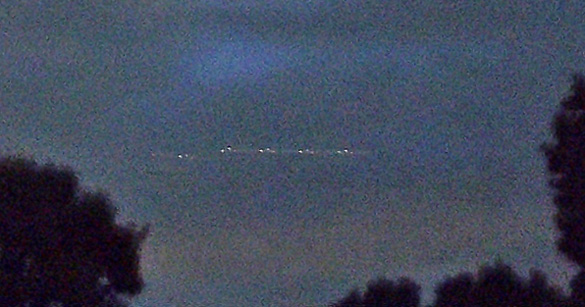 Second image submitted by Texas UFO witness. Click to enlarge. (Credit: MUFON)