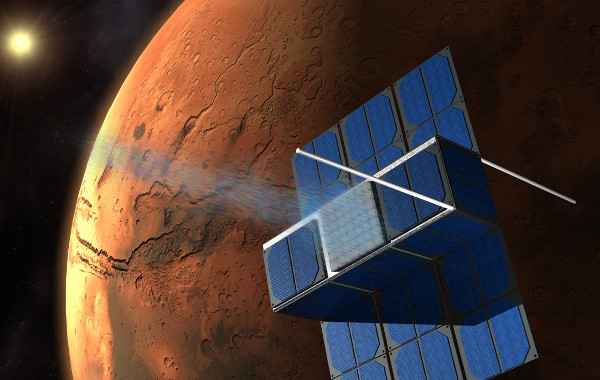 Spacecraft concept. (Credit: F. Mier Hicks/Time Capsule to Mars)