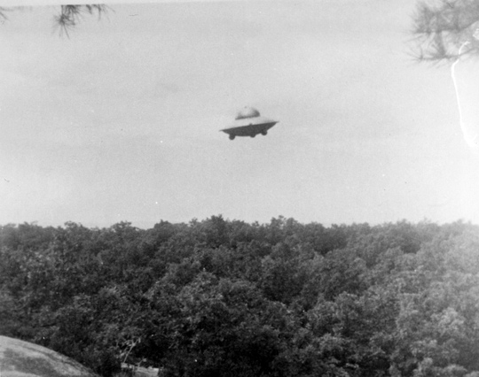Second UFO photo taken by Harold Trudel in Woonsocket, Rhode Island, June 16th, 1967. (image credit: Harold Trudel, August C. Roberts)