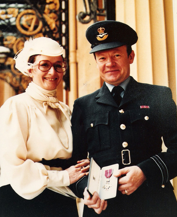 1984: This is Alan Turner with his wife Diane at Buckingham Palace receiving his MBE in l984.