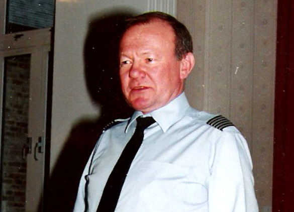 1994: Alan Turner at a social function during his last appointment with the RAF in l994.