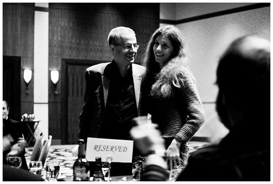 The newlyweds are aplauded as their marriage is announced at the UFO Congress banquet. (image credit: Peter Beste)