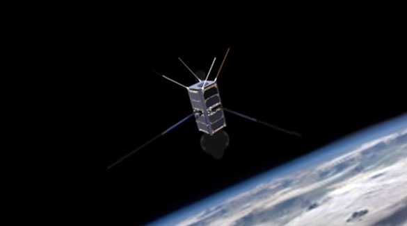 Artist rendering of the UFO hunting CubeSat. (Credit: Dave Cote/YouTube)
