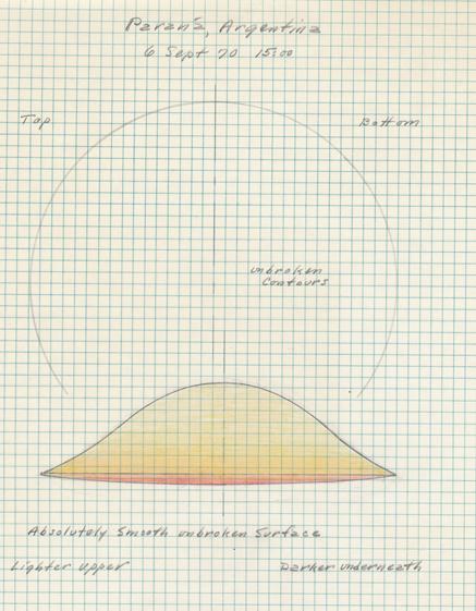 Original report diagram: Parana UFO