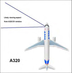 Estimated viewing aspect of pilot. (Credit: UK Airprox Board)