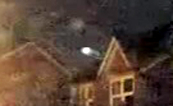 A close-up of the object from the still above. (Credit: MUFON/YouTube/Diane Beard)